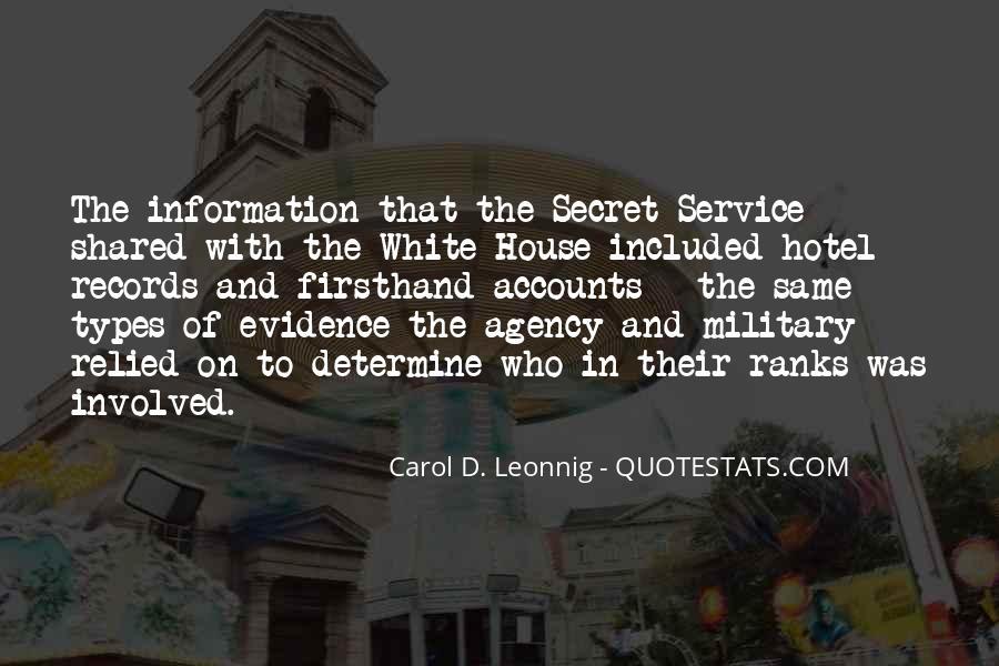 Quotes About The Secret Service #115881