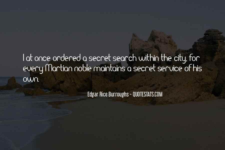 Quotes About The Secret Service #1427705