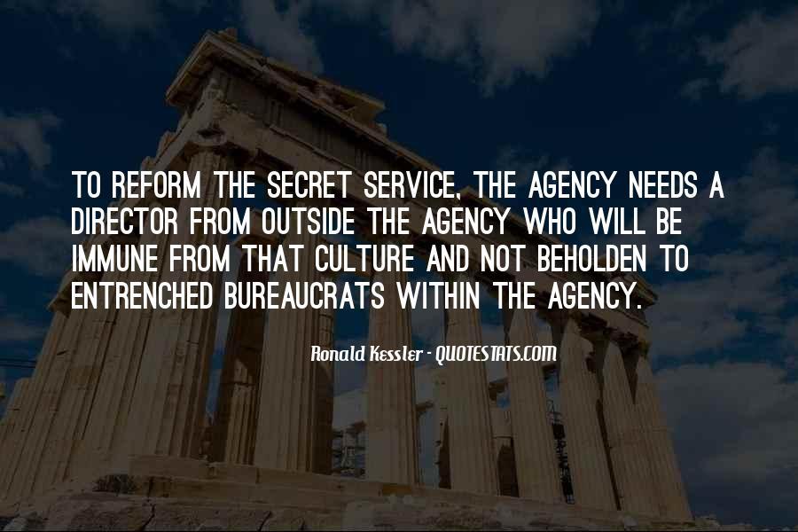 Quotes About The Secret Service #892339