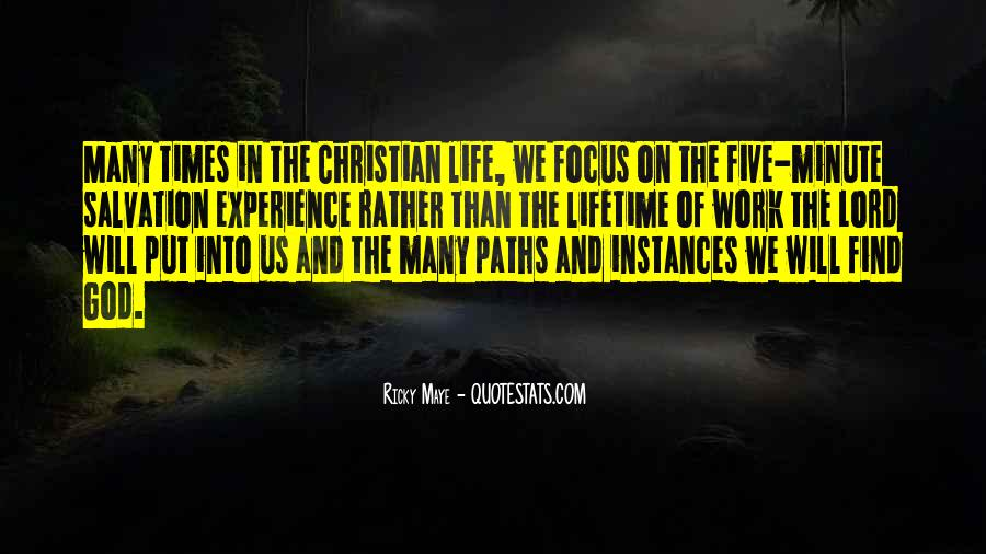 Quotes About Our Paths In Life #34910