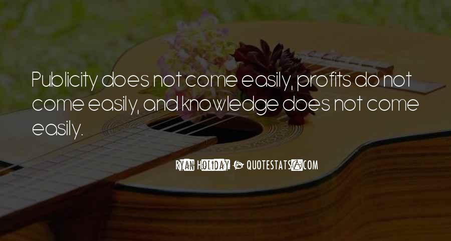 Quotes About Profits #214254