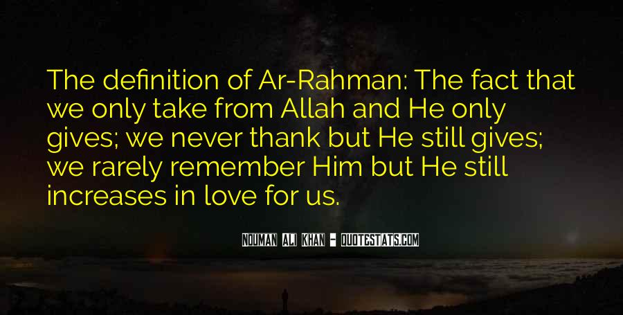Quotes About Allah's Love #74066