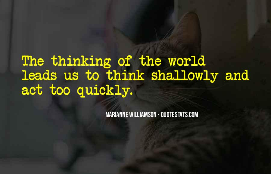 Quotes About Thinking Quickly #1442985
