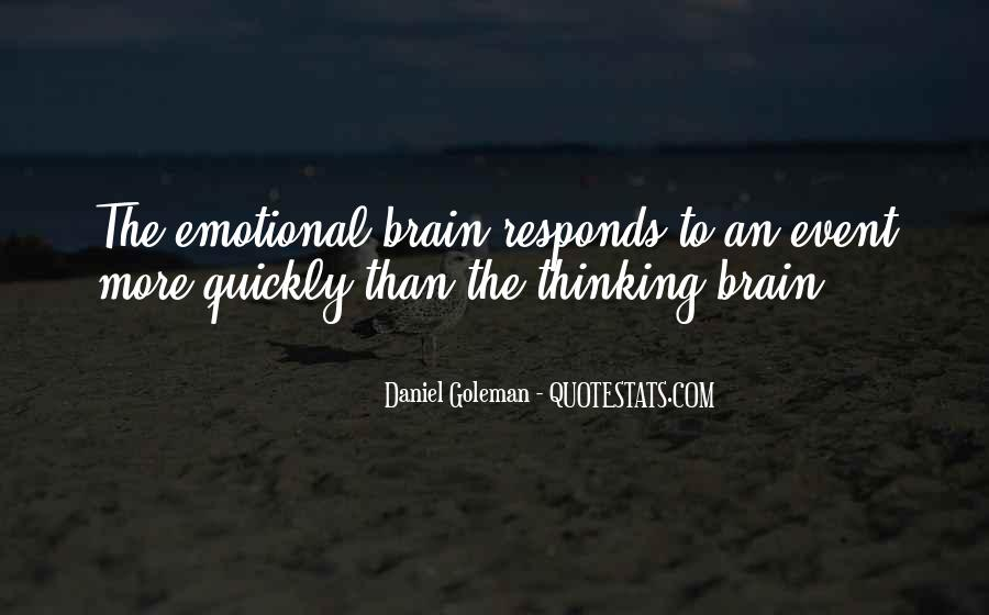 Quotes About Thinking Quickly #26616