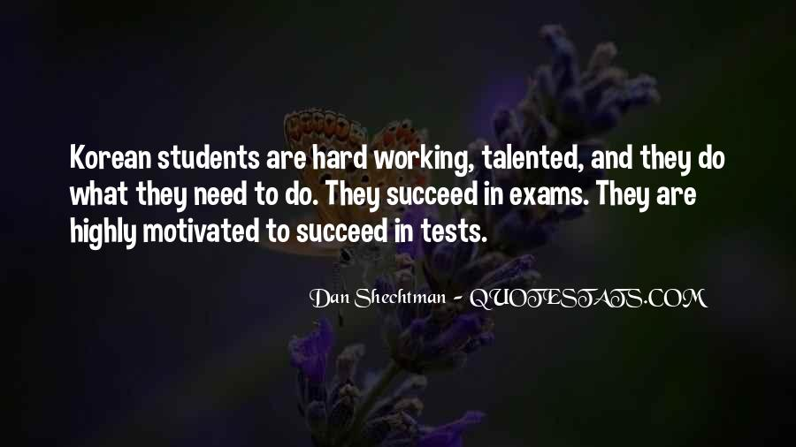 Quotes About Hard Working Students #620874