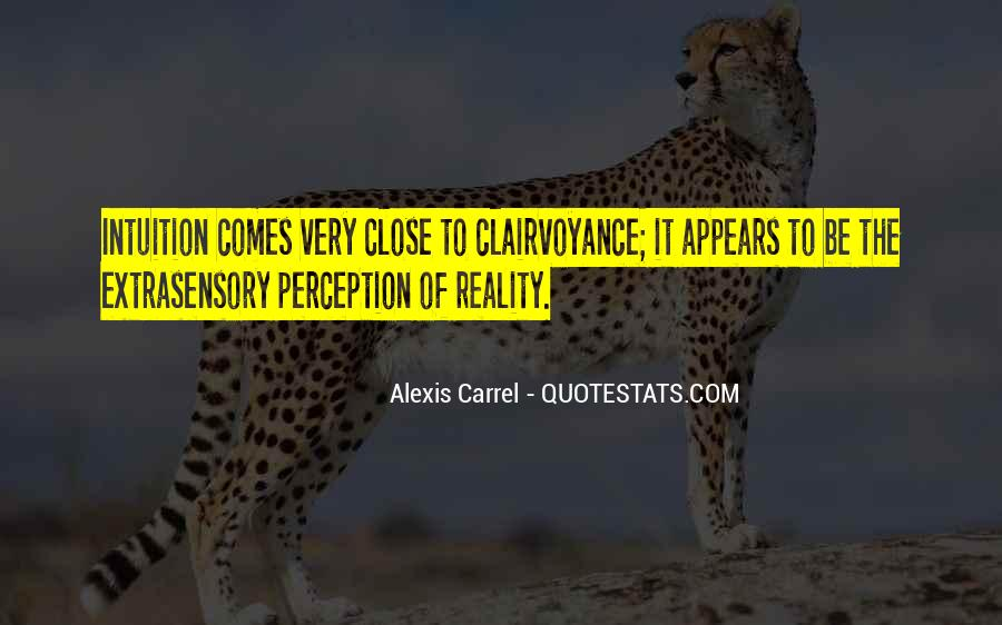 Quotes About Extrasensory Perception #1435095