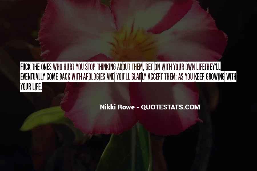 Quotes About Non Stop Thinking #9355