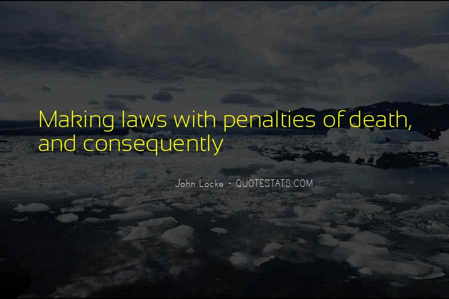 Quotes About Death Penalties #1748974