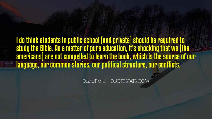 Quotes About Private School Education #12353