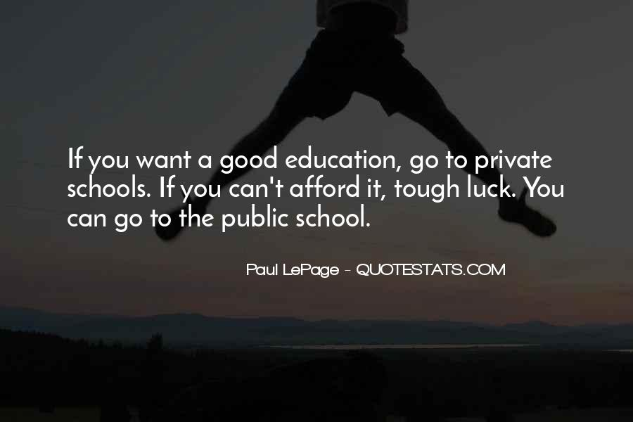 Quotes About Private School Education #223670