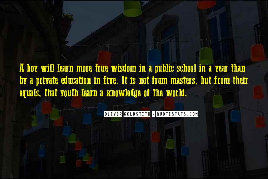 Quotes About Private School Education #864215