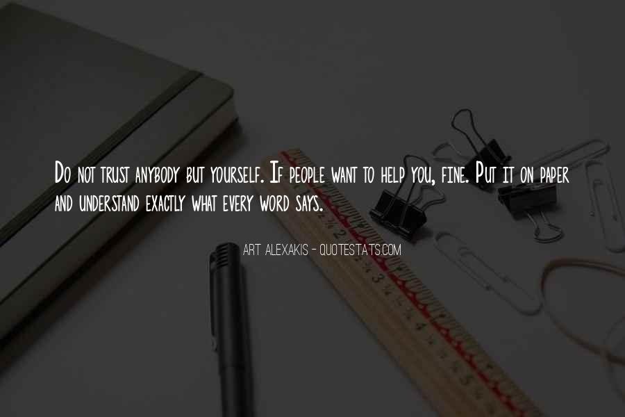 Quotes About What You Want #10096