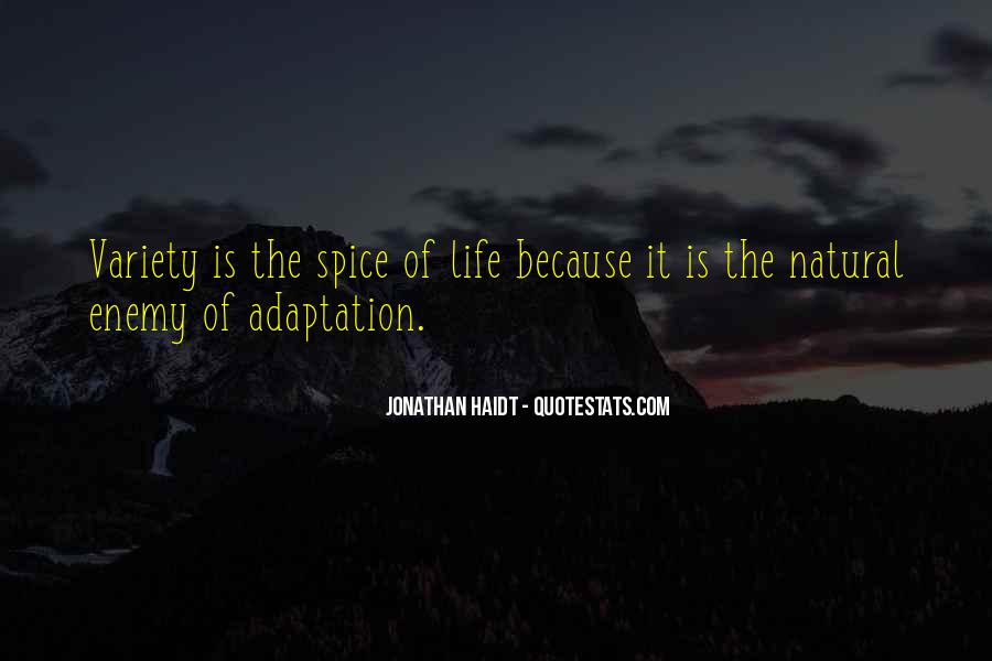 Quotes About Adaptation #136182