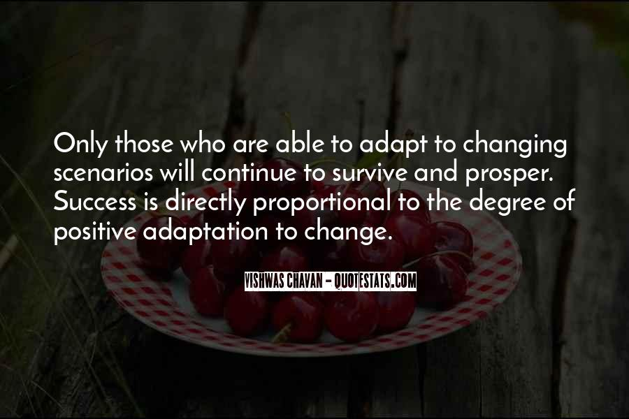 Quotes About Adaptation #244739