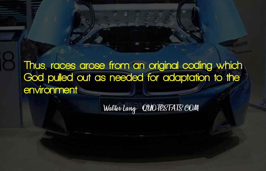 Quotes About Adaptation #492384