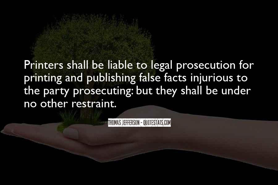 Quotes About Prosecution #1763019