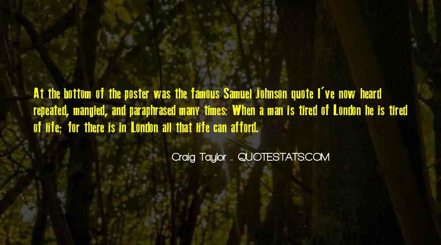 Quotes About London Samuel Johnson #1117885