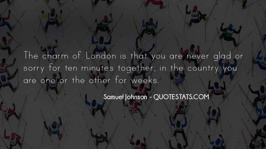 Quotes About London Samuel Johnson #257708