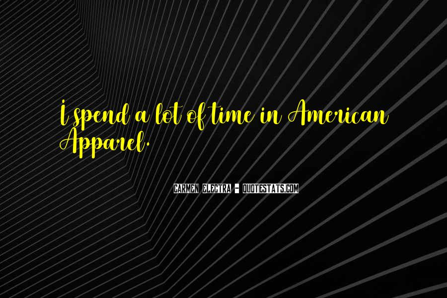Quotes About American Apparel #1249636