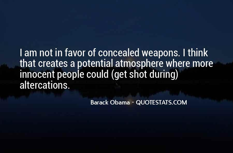 Quotes About Concealed Weapons #239807