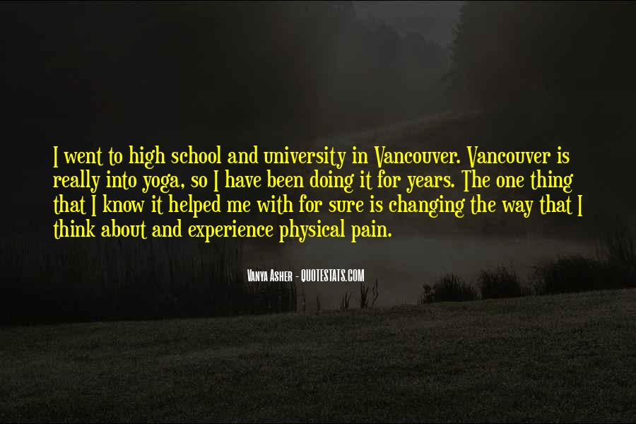 Quotes About High School Experience #1027369