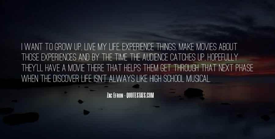 Quotes About High School Experience #1241130