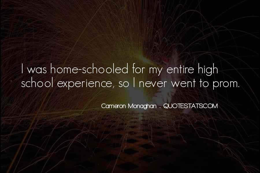 Quotes About High School Experience #1329988