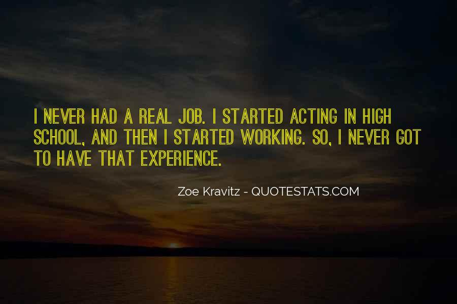 Quotes About High School Experience #1336239