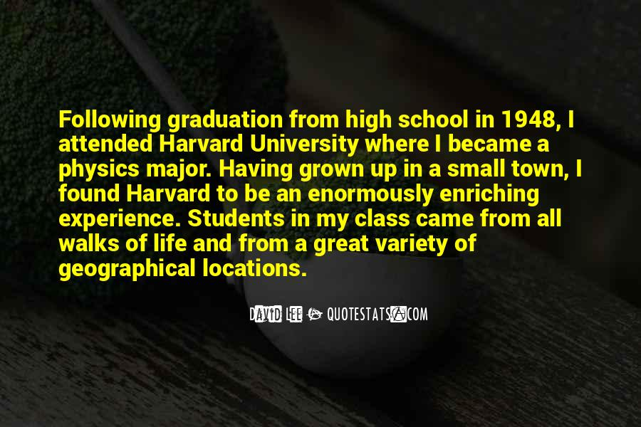 Quotes About High School Experience #1368767