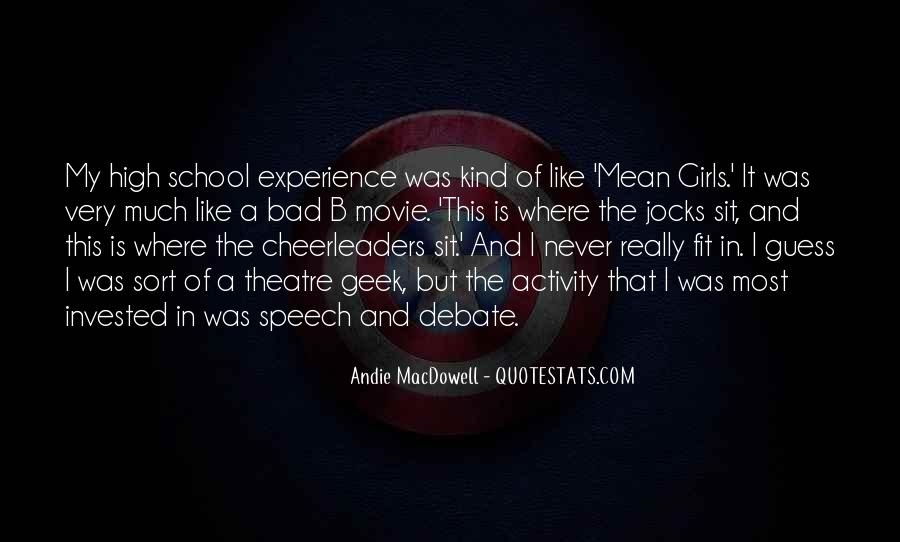 Quotes About High School Experience #1387434