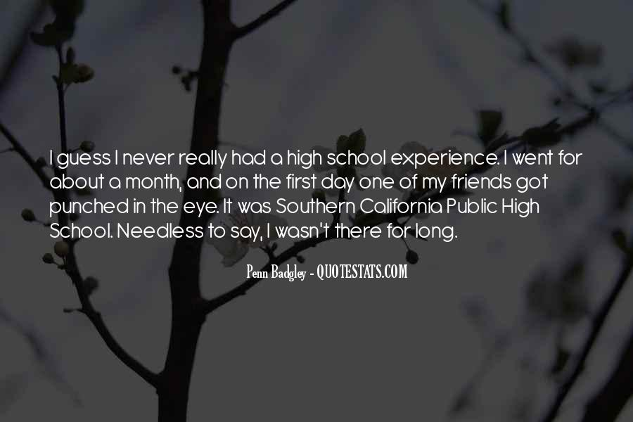 Quotes About High School Experience #1399808