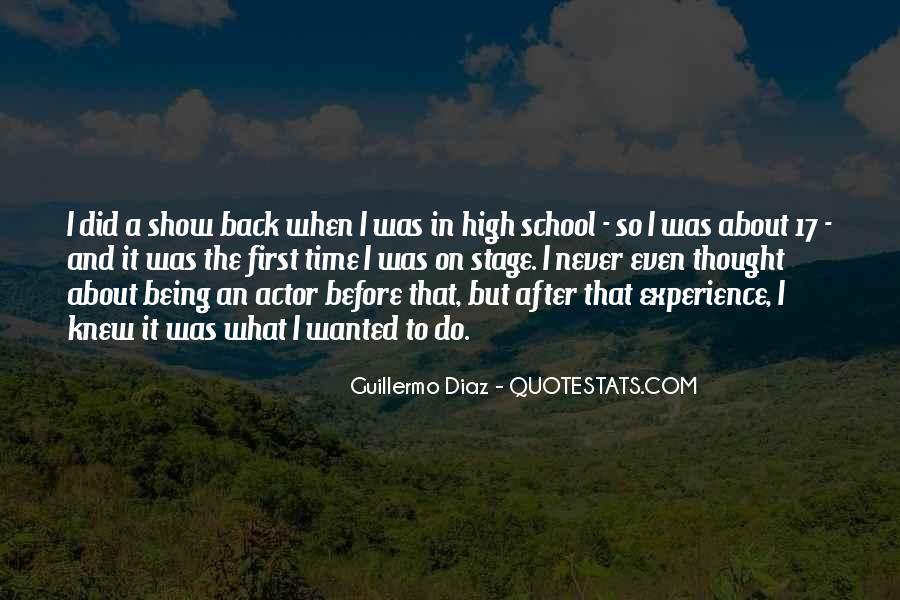Quotes About High School Experience #1579526