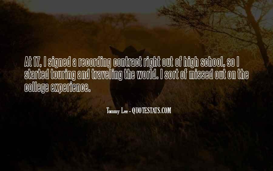 Quotes About High School Experience #1594884