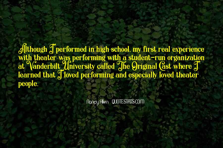 Quotes About High School Experience #214339