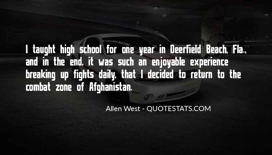 Quotes About High School Experience #234128