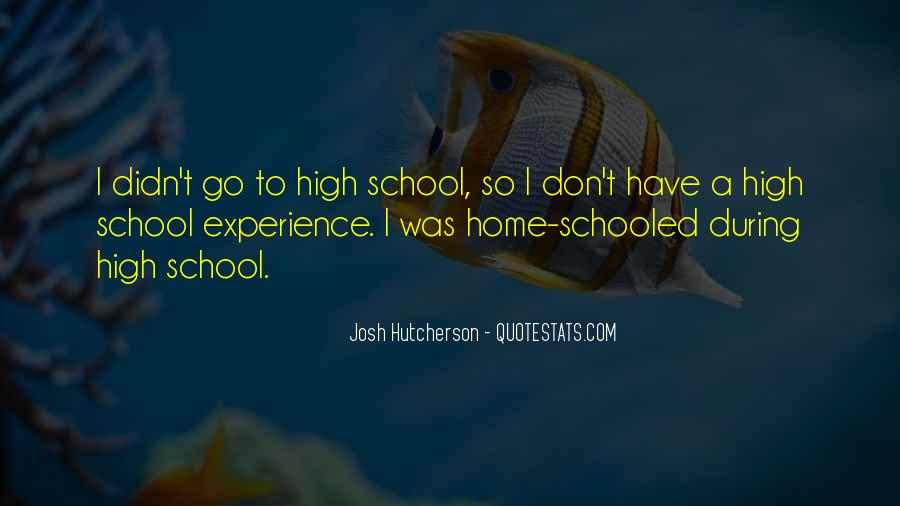 Quotes About High School Experience #597415