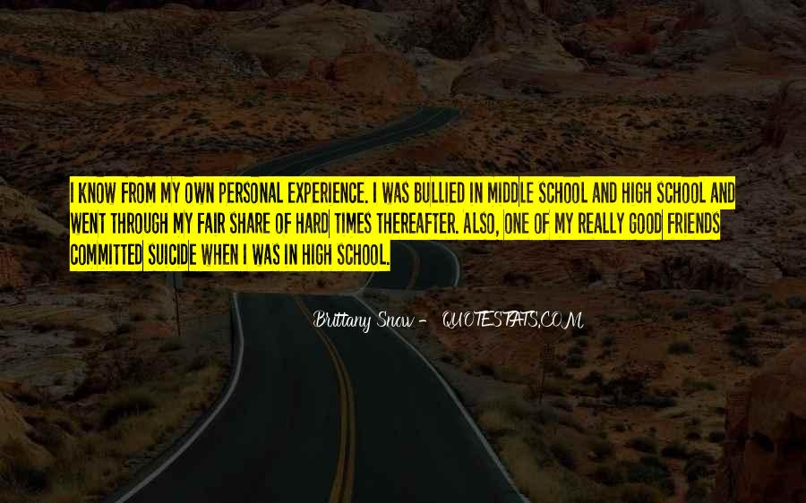Quotes About High School Experience #755649