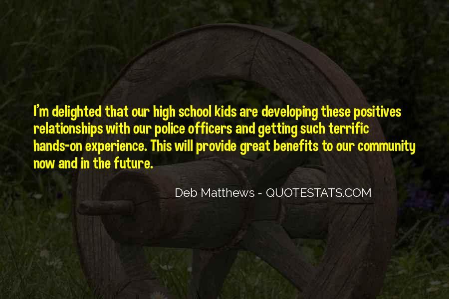 Quotes About High School Experience #968839