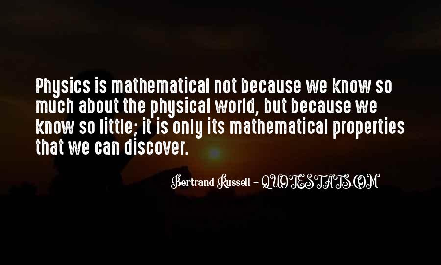 Quotes About Mathematical #187472