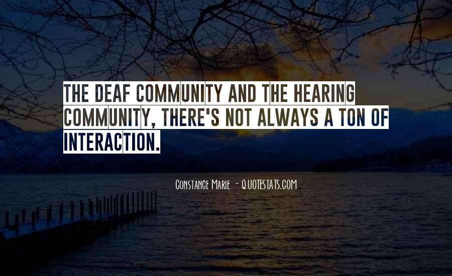 Quotes About Deaf #291837