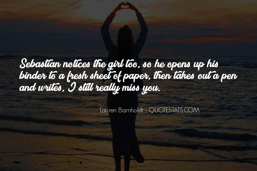 Quotes About A Girl You Miss #162569