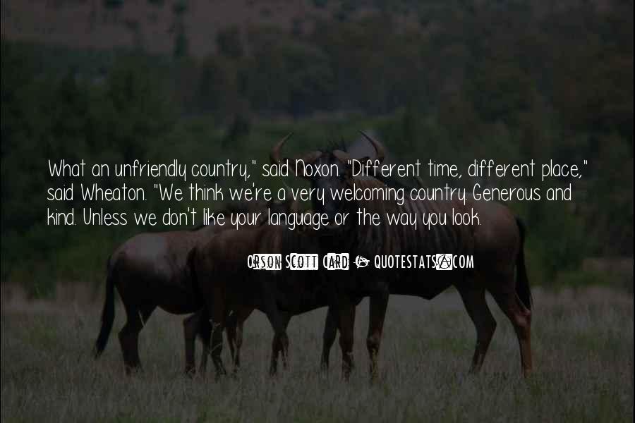 Quotes About Unfriendly #1365718