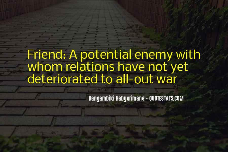 Quotes About Unfriendly #1440095