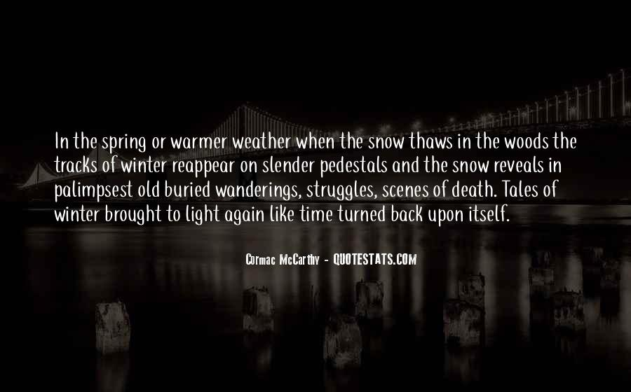 Quotes About Winter Without Snow #254639