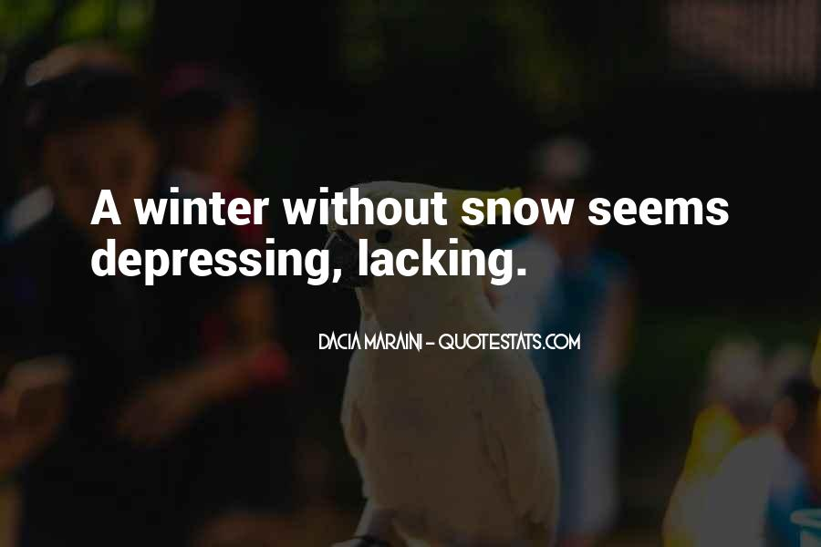 Quotes About Winter Without Snow #922117