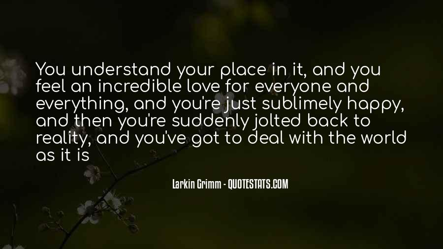 Quotes About Reality And Love #356942