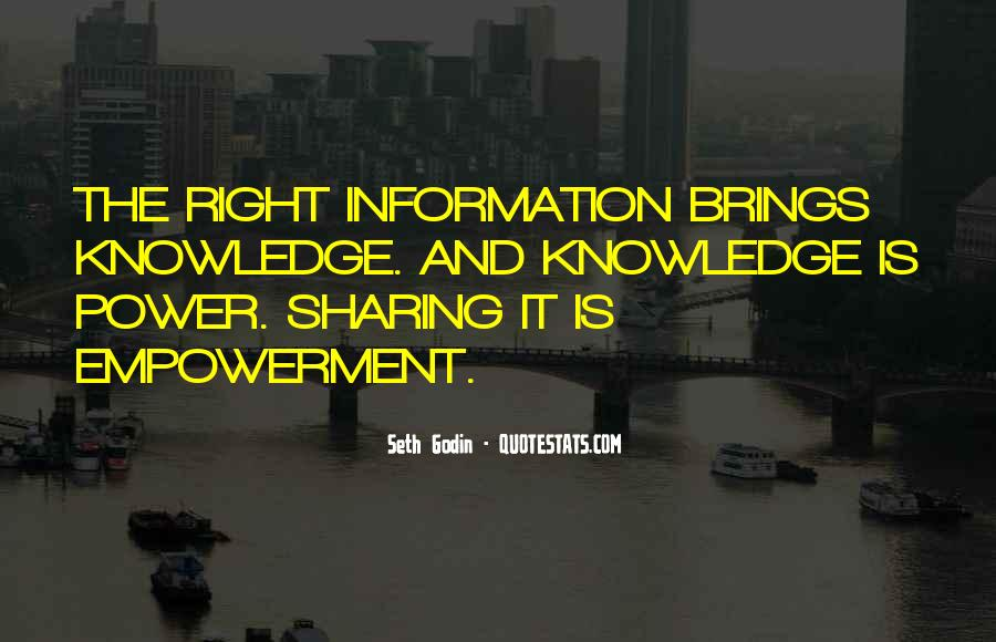 Quotes About Sharing Knowledge #166885