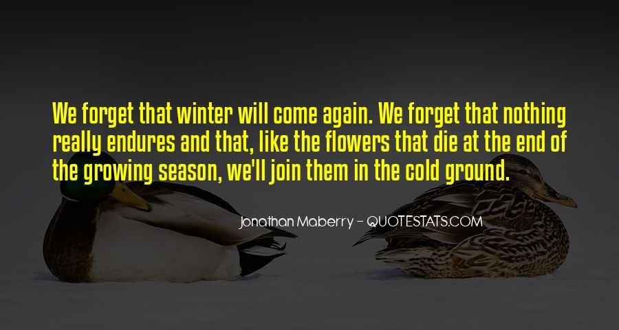Quotes About The End Of The Season #1061637
