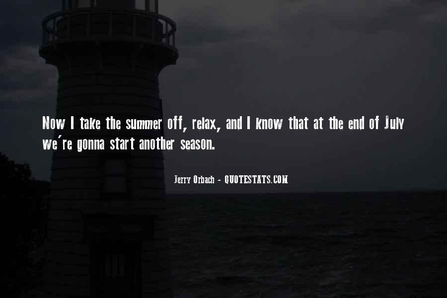 Quotes About The End Of The Season #1168010
