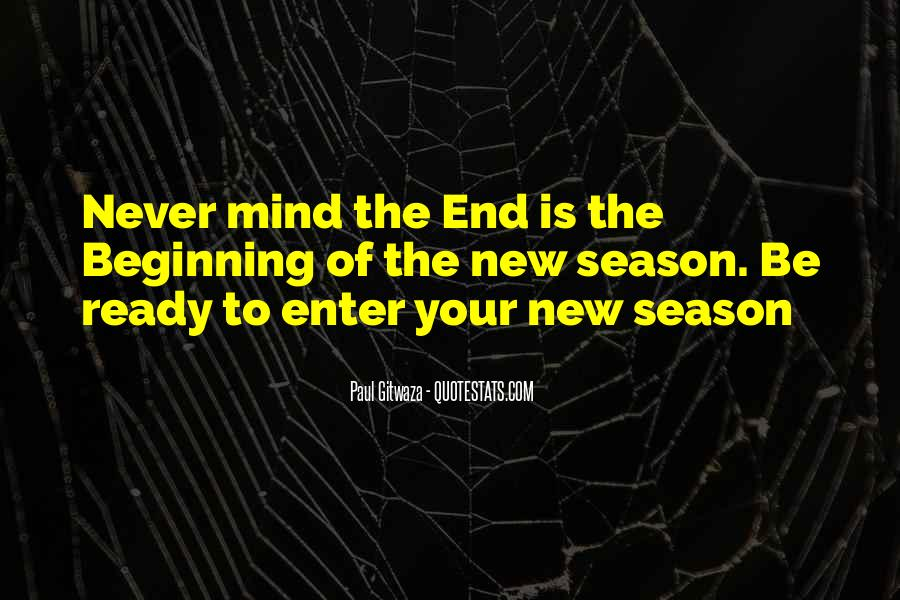 Quotes About The End Of The Season #529125